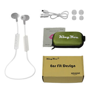 White Bluetooth Earbuds - Brand New