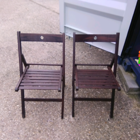 Two Harbour Fold Up Chairs/Used