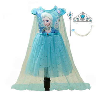 Clothing For Girl (Fashion Girls Children Clothes Anna Elsa Dress Girl Baby Elza Dresses For)