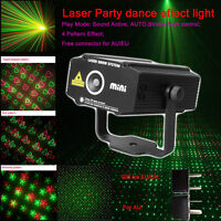 4 Pattern Lights Effect Laser Projector  Disco DJ Party Stage ..