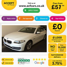 White BMW 520 2.0TD 2014 d SE FROM 57 PER WEEK!