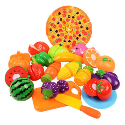 New Cut Food Fruits And Vegetables Mushrooms Pretend Play To