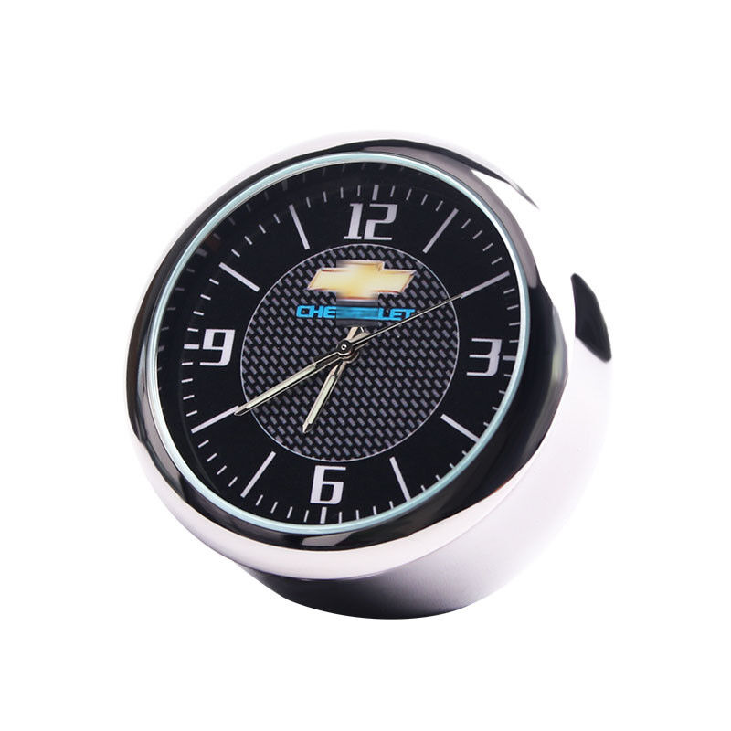 For Chevrolet Car Electronic Quartz Analog Clock for Interior Ornaments Decro