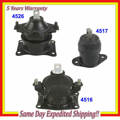 FRONT & REAR MOTOR MOUNT KIT For 2004 2005 2006-2008 ACURA TSX 2.4L w / AT M076