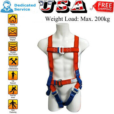 Fall Protection Construction Harness Full Body Safety Waist Belt Universal Us