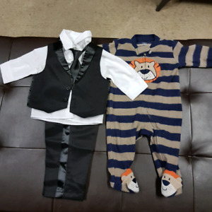 Baby tux and pjs