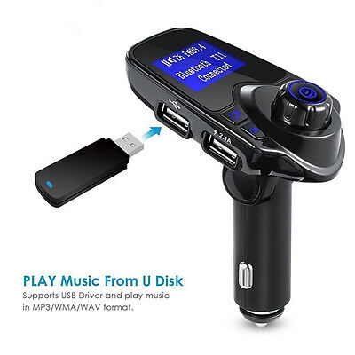 Bluetooth Car FM Transmitter Wireless Radio Adapter USB Charger Mp3 Player JH