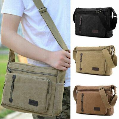 Men Messenger Retro Canvas Bag Military Travel Hiking Cross Body Shoulder Bags