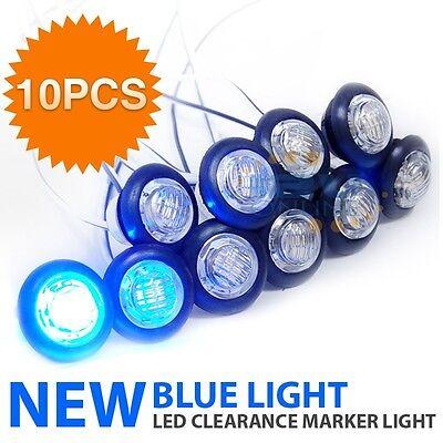 12V Waterproof LED Eyeball Stair Step Indicator Auto Clearance Marker Light Blue (Led Eyeball)