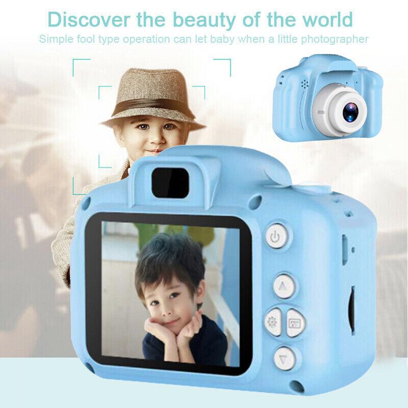 Kinderkamera für Kinder Digital Kamera Mini Kamera HD 1080P 8MP Video 2.0 Zoll h