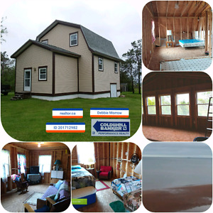 Complete this home or cottage your way!  Awesome sandy beach!