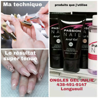 Pose d'ongles Acrylgel Longueuil