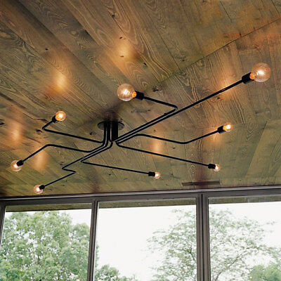 Antique Industrial Ceiling Light Steampunk Semi Flush Mount Chandelier Fixture ()