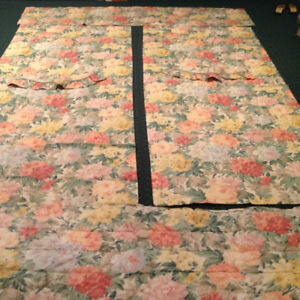 Double Quilt, 2 shams, 2 side panel drapes, 1 Valance