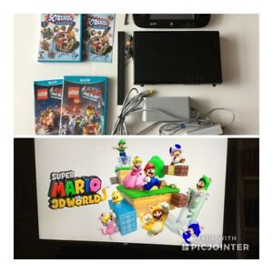 Wii U de luxe 32gig+ Mario 3D, 30 games et Lego Movie - 240$