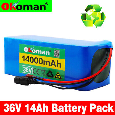 - Li-ion Battery 36V 14AH Volt Rechargeable Bicycle 500W E Bike Electric Li-ion