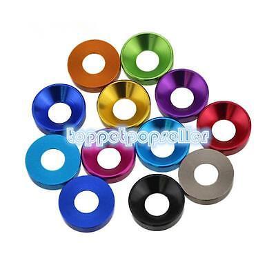 M2m2.5m3m4 Aluminum Alloy Cone Cup Head Screw Gasket Washer Multicolor