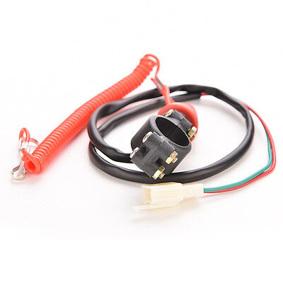 Motorcycle QUAD bike Engine Stop Tether  Lanyard Closed Kill Switch Safety  RT
