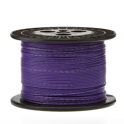 20 Awg Gauge Solid Hook Up Wire Violet 1000 Ft 0.0320 Ul1007 300 Volts