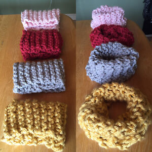 Wool knit Infinity Scarf/Cowl neck