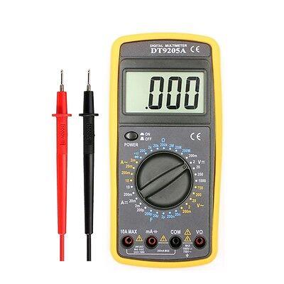 Digital Dt9205a Multimeter Lcd Acdc Ammeter Resistance Capacitance Tester Meter