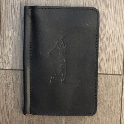 Authentic TPK Leather Golf Score Card Holder Black
