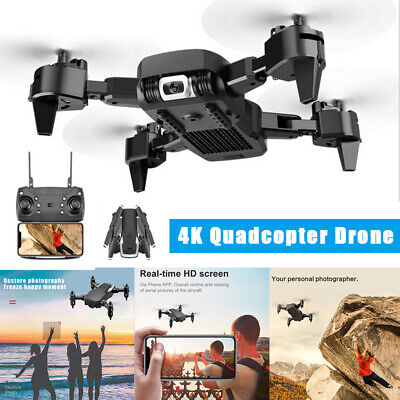360 Rotating 4K Quadcopter Drone WIFI FPV Headless Wide-Angle HD 1080P Camera US