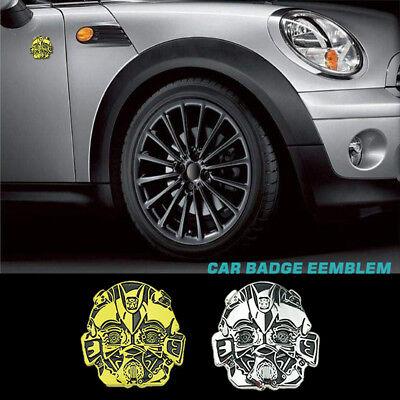 Car Auto New Alloy Metal Transformers Bumblebee Logo Decal Badge Emblem Sticker