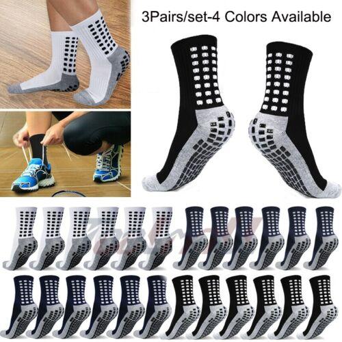3 Pairs Unisex Anti Slip Sport Socks Design Soccer Fashion B