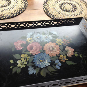 Gorgeous vintage metal tray
