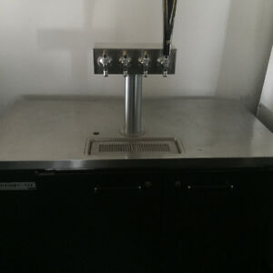 Four tap keg cooler