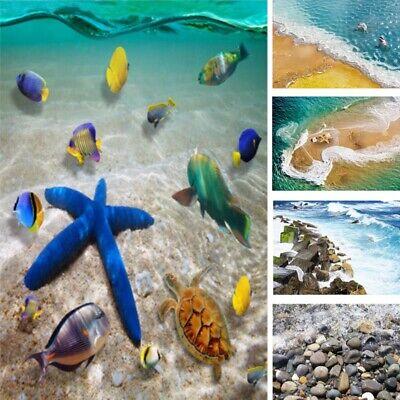 Ocean Room Decor (Removable 3D Sea Beach Floor Wall Sticker Decals Vinyl Mural Art Home Room)