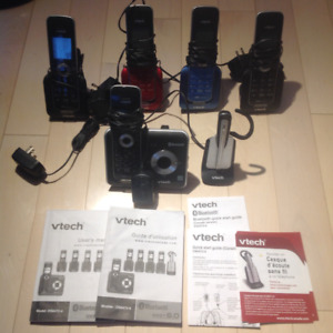 VTech 5 phones and headset system