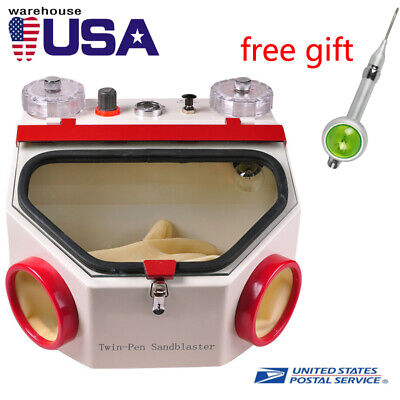Usaship Dentistry Dental Twin- Pens Sandblaster Unit For Polishing Blasting