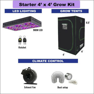 4' X 4' STARTER Grow Kit for Cannabis & Vegetables GrOh Canada