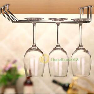 new wine glass under cabinet rack holder shelf hanger. Black Bedroom Furniture Sets. Home Design Ideas