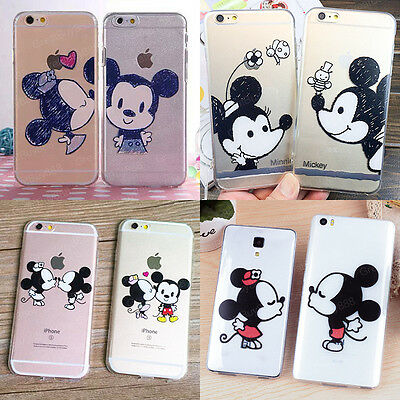 Ultra Thin Cartoon Cute Couple Lover Soft Case Cover for iPhone 5S 6 6S 7 8 Plus