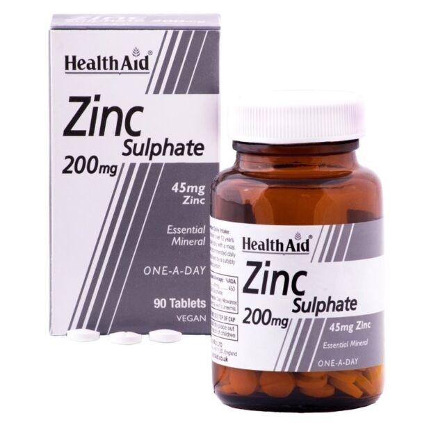 HEALTH AID ZINC SULPHATE 200MG - 90 TABLETS