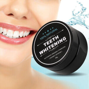Natural Teeth Whiting Powder with Bamboo Toothbrush