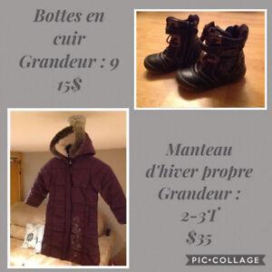 Manteau d'hiver propre 2-3T