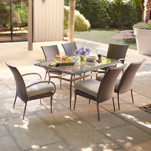 **NEW IN BOXES** Posada 7 piece patio dining set **1/2 PRICE**