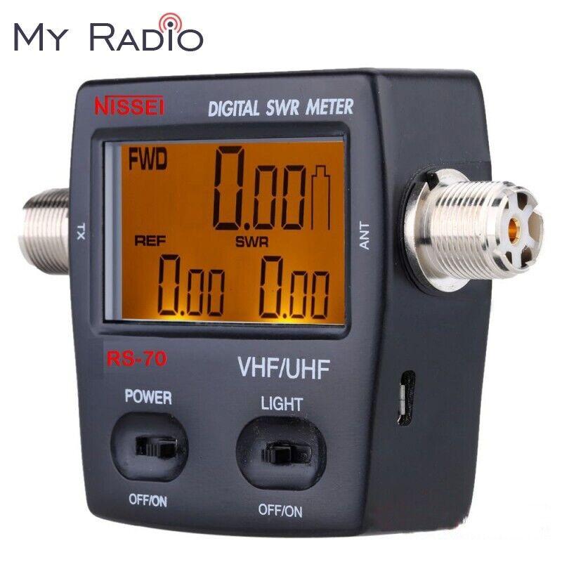 NISSEI RS-70 Digital SWR/Power Meter 1.6~60Mhz HF SO239 Radio&Antenna ham Tester