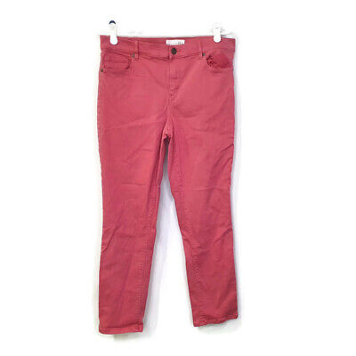 Ann Taylor LOFT Skinny Crop Womens Pink Rose Stretch Pants Size 30/10