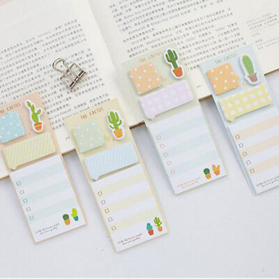 2pcslot Quality Note Pad Planner Diary Cactus Memo Label Stickers Stationery