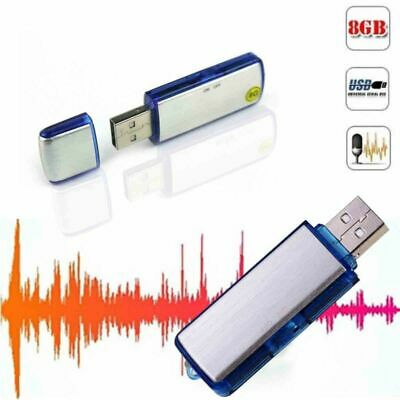 USB Digital Audio Hot Voice Recorder Pen 8GB Disk Flash Drive 150 hrs Recording
