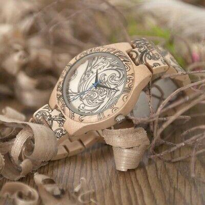 Bobo Bird Kiefer Holz Quarz Uhr Tattoo Geschenke für Ihn Papa Sohn Herren in