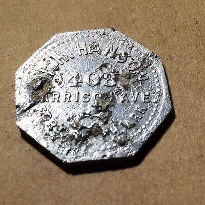 H.H. Hanson, 408 Garrison, Fort Smith, Arkansas AR Ark. - Token - GF 10 Cents IT