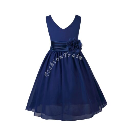 Princess formal birthday party wedding bridesmaid chiffon dress 10
