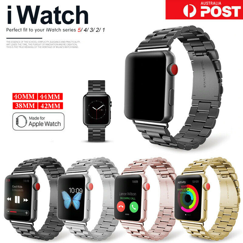 Jewellery - For Apple Watch iWatch Series 6 5 4 3 2 Stainless Steel Watch Band 38/42/40/44mm