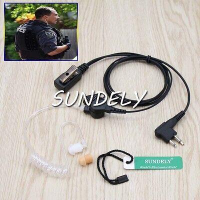 2 Wire Surveillance Mic Earpiece For Motorola Cp200 Pr400 Cls Hyt Radio Headset